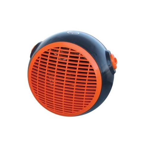 Radiateur soufflant portable 1000W-2000W Ø 215mm 230V 50m3/h gris-orange portable RAP ARGO 191070146