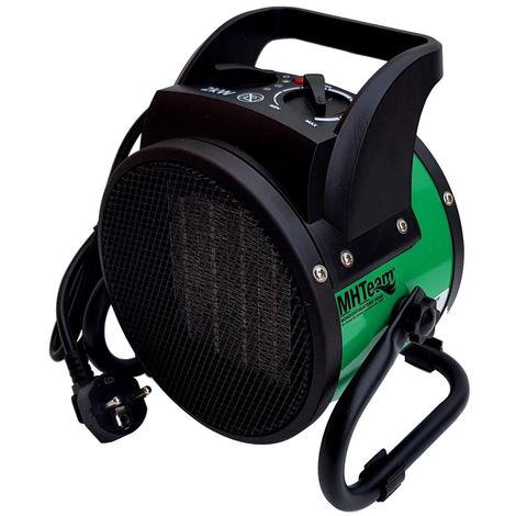 Radiateur soufflant PTC 2000W ceramique cm 21,0x16,0x21,7 MHTEAM EH6-02-verde