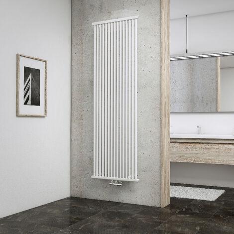 Radiateur vertical à eau chaude Kiel, raccord central, inertie fluide, vertical, 180 x 60 cm, Schulte