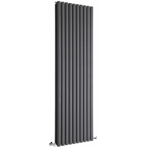 Hudson Reed Vitality – Radiateur Design Vertical – Anthracite – 178 x 59cm Double Rang