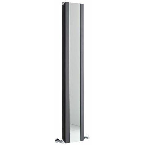 Radiateur Vertical Design Avec Miroir – Anthracite – 160 x 26,5cm – Sloane