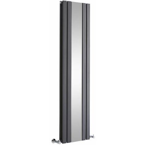 Radiateur Vertical Design Avec Miroir – Anthracite – 160 x 38,5cm – Sloane