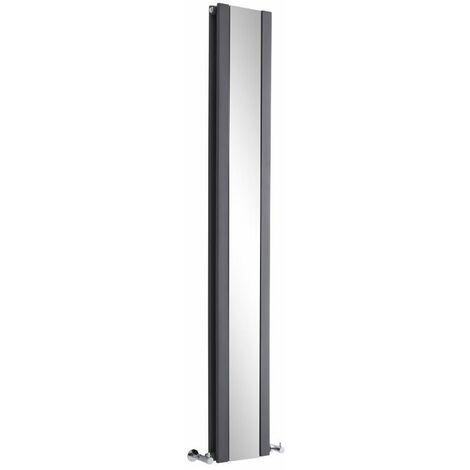 Radiateur Vertical Design Avec Miroir – Anthracite – 180 x 26,5cm – Sloane