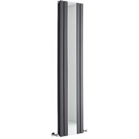 Radiateur Vertical Design Avec Miroir – Anthracite – 180 x 38,5cm – Sloane