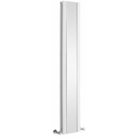 Radiateur Vertical Design Avec Miroir – Blanc – 160 x 26,5cm – Sloane