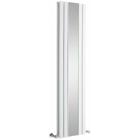 Radiateur Vertical Design Avec Miroir – Blanc – 160 x 38,5cm – Sloane