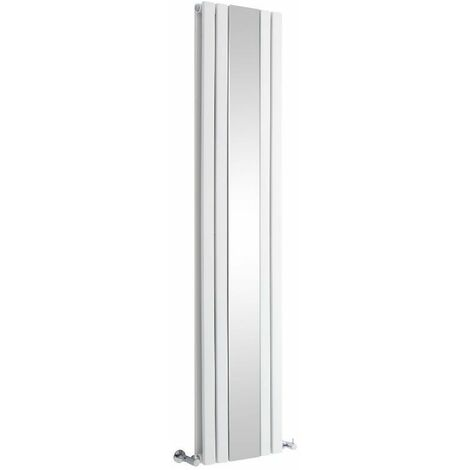 Radiateur Vertical Design Avec Miroir – Blanc – 180 x 38,5cm – Sloane