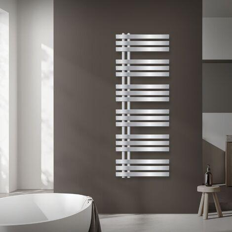 radiateurs design ECD Germany fer EM - 1400 mm x 500 - Chrome - serviette radiateur bitube chauffe-serviettes Radiateur design serviette