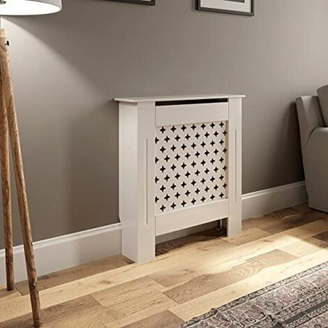 Radiator Cover Adjustable - White Diamond Style
