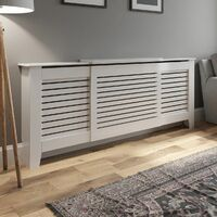 Radiator Cover Adjustable - White Horizontal Style