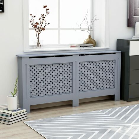 Radiator Cover Anthracite 172x19x81 cm MDF - Grey
