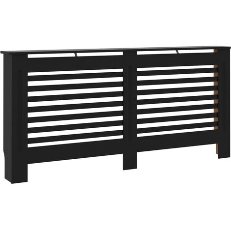 Radiator Cover Black 172x19x81 cm MDF