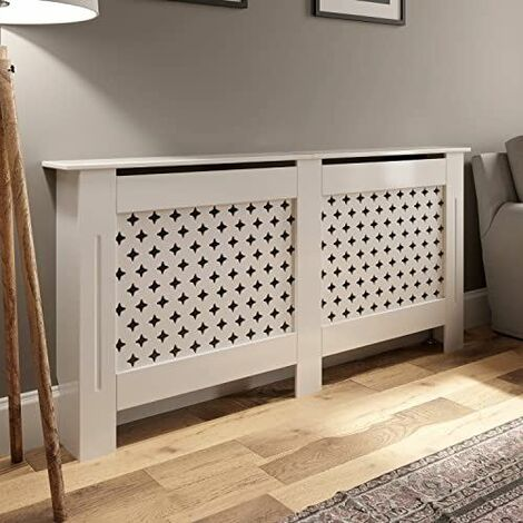 Radiator Cover Large - White Diamond Style