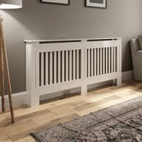 Radiator Cover Large -White Vertical Style