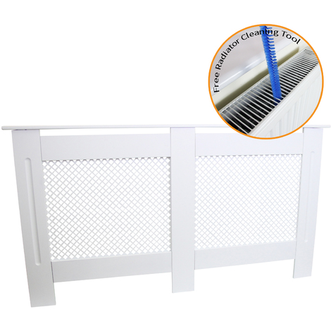 Radiator Cover MDF White 1515mm