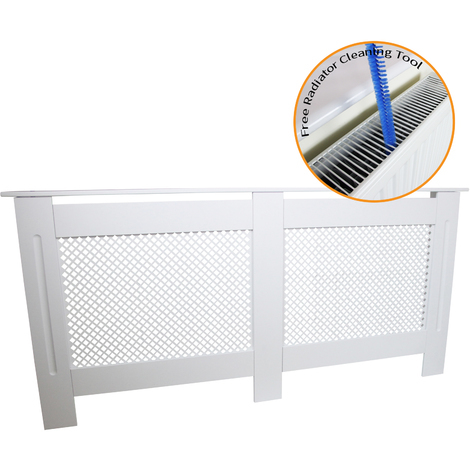 Radiator Cover MDF White 1720mm