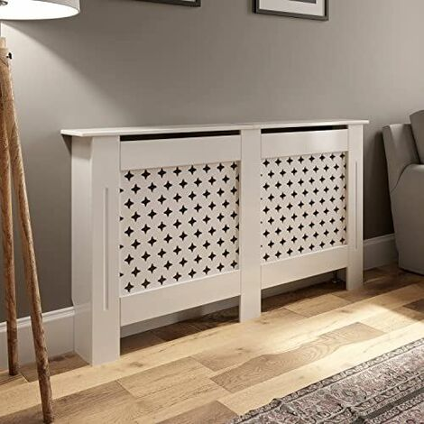 Radiator Cover Medium - White Diamond Style