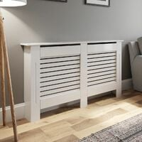 Radiator Cover Medium - White Horizontal Style