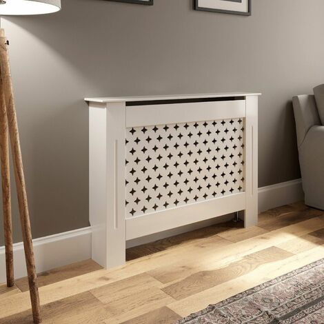 Radiator Cover Small - White Diamond Style