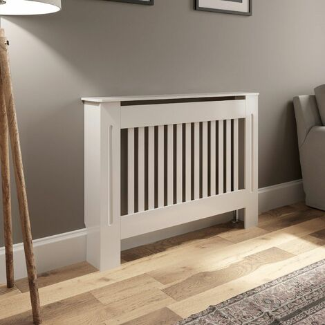 Radiator Cover Small - White Vertical Style