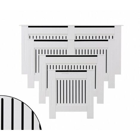 """main image of """"Radiator Cover Wall Cabinet MDF Wood Furniture Vertical Grill White Grey Modern"""""""