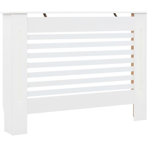 Radiator Cover White 112x19x81.5 cm MDF