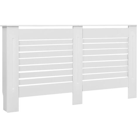 Radiator Cover White 152x19x81.5 cm MDF