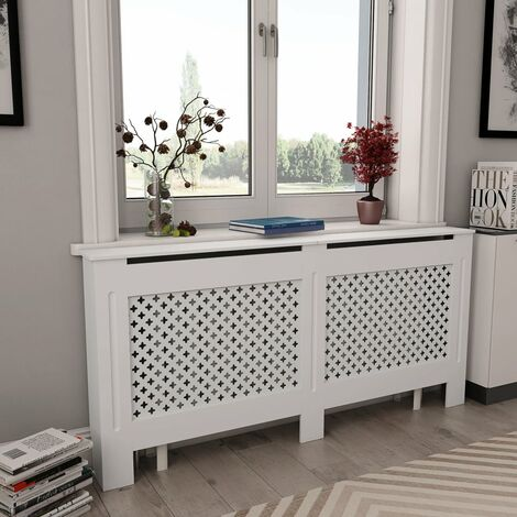 Radiator Cover White 172x19x81.5 cm MDF