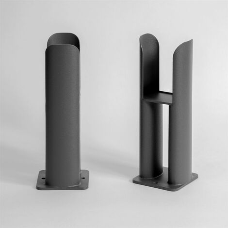 Radiator Leg Supports for Horizontal Oval Double Bar Anthracite Finish
