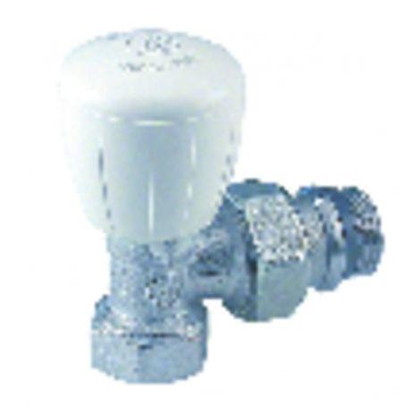 "Radiator valves and fittings - Angle valve faucet R421TG 3/8"" - GIACOMINI : R421X132"