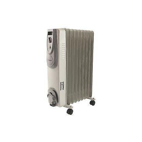 Radiatore Ad Olio Santorini Potenza 1000/2000 Watt 9 Elementi