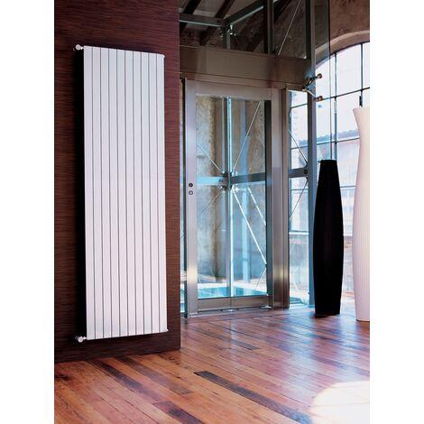 Radiatore arredo design bianco tubi piatti verticale acciaio altezza 200