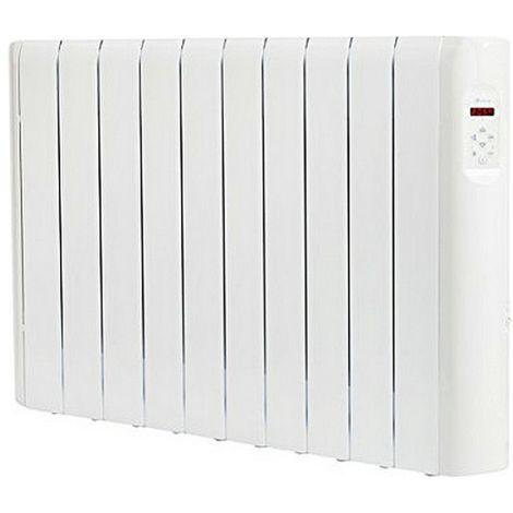 Radiatore ad Olio Elettrico 5 Elementi 500W 24 x 13,4 x 37 cm Termostato Regolabile Protezione Surriscaldamento Plastica e Acciaio Bianco PRO.Tec