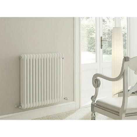 Radiatore tubolare in acciaio 3 colonne 20 elementi h 600 mm bianco standard