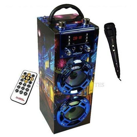 Radio Altavoz bluetooth Londres 5R'Sound con función karaoke