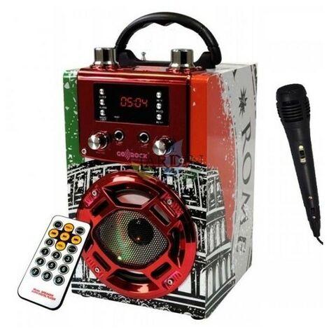 Radio Altavoz bluetooth Roma con función karaoke