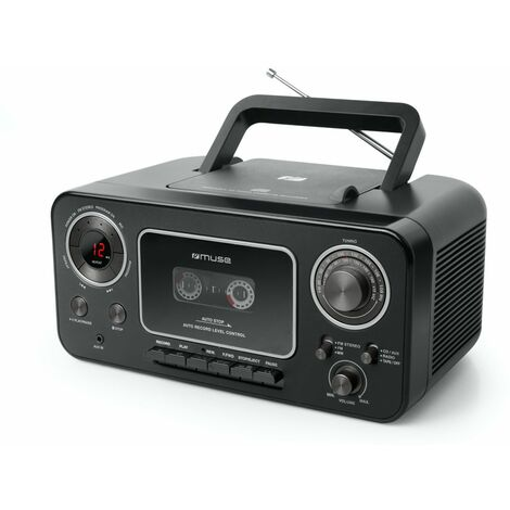 radio-cassette cd noir - m182rdc - muse