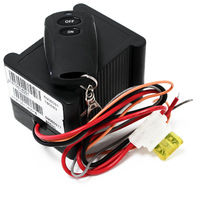 Radio control for wastewater in motorhomes and caravans for 9-15V DC