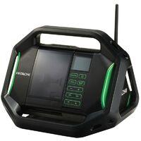 Radio da cantiere HITACHI - HIKOKI 14,4 – 18 V - Batteria e caricabatteria non inclusi - UR18DSALW4