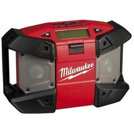 Radio de chantier C12 JSR-0 MILWAUKEE - sans batterie ni chargeur - compatible mp3 et lecteur auxiliaire - 4933416365