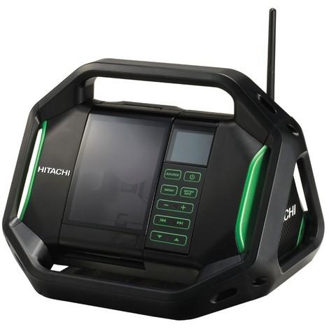 Radio de chantier HITACHI 18V - Sans batterie ni chargeur - UR18DSALW4