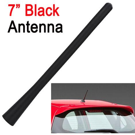 Radio de coche de antena corta negra universal AM FM 7 pulgadas a prueba de agua 4 tornillos de transferencia