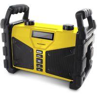 Radio de obra 2x10W, con Bluetooth, USB Play&Charge, doble alarma