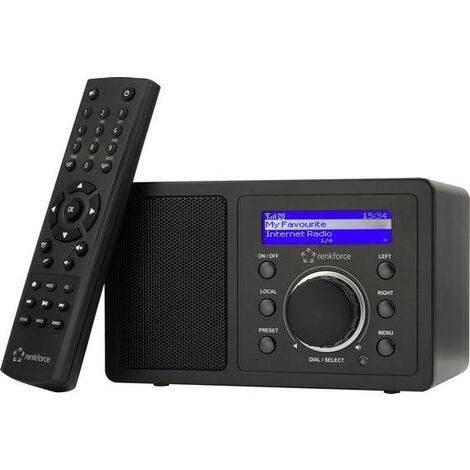 "main image of ""Radio de table Internet Renkforce RF-IR-MONO1 Internet Bluetooth, AUX, radio internet, WiFi compatible DLNA noir X977031"""