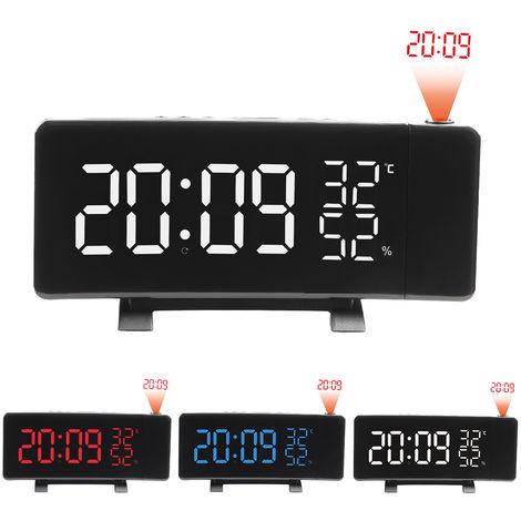 Radio despertador operado por USB, termometro higrometro, reloj