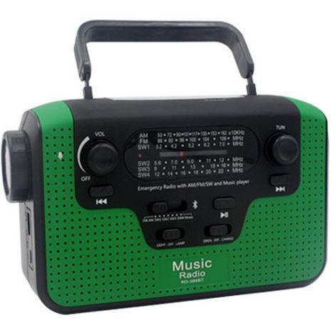 Radio FM FM / AM / SW Radio manivela solar, luz de emergencia