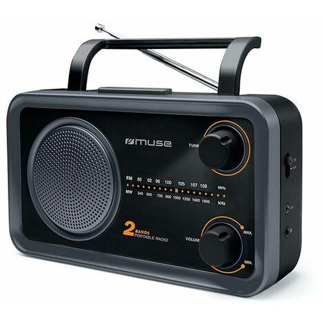 radio portable analogique noir - m06ds - muse
