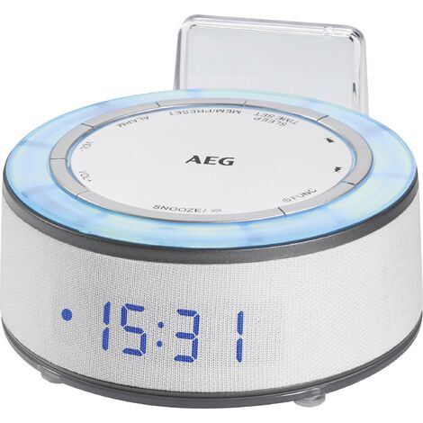 Radio-réveil AEG C 4151 blanc X158011