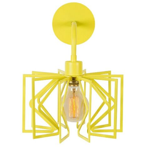 Radius Drop Wall Lamp - Applique - Yellow made of Metal, 26 x 35 x 34 cm, 1 x E27, Max 100W