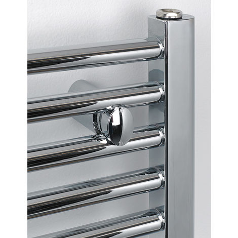 Rads 2 Rails Aldgate Chrome Steel Straight Tube Towel Rail 1160mm x 500mm Electric Only - Thermostatic